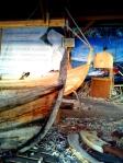 Den 160 år gamle kyrkjebåten, og den nye som skal verte til mykje glede for den eigaren