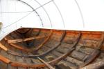 En flott gammel 30 fots notbåt er satt i stand