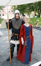 En kriger og hans datter på Bergenhusdagene