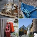 Masfjorden: Båt og sjøbrukssamling på Sandnes, Kvamsdal fargeri