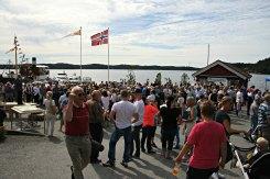 Lindåstorget - torgdag, marknad og folkefest som også feira slusene og Kystsogevekene
