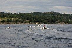 Granvin hadde båtar med vinkande og glade menneske rundt seg på alle kantar på veg inn mot Lindås
