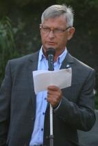 Ordførar Hans S. Vindenes haldt velkomsttale