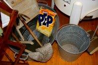 Husvask og rundvask var også representert, og tekniske nyvinningar som sentrifuge eller vaskemaskin