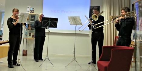 Trombonekvartetten frå Os musikkforening