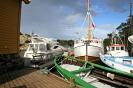 Båtar av fleire generasjonar på Langøymarknad