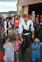 Piraten er nedkjempa og skatten skal finnast og delast