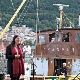 Direktør for Bymuseet i Bergen, Marianne L. Nielsen opna Fjordabåtdagen