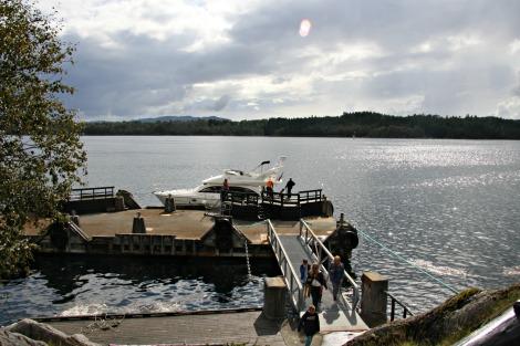 Frå ekspressbåtkaien gjekk det skyssbåt frå Vikingland til Amerika...