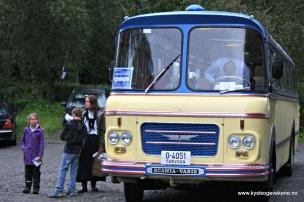 Veteranbuss til Stend stasjon og Hordamuseet