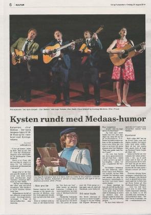 Førehandsomtale om turneen i Os og Fusaposten