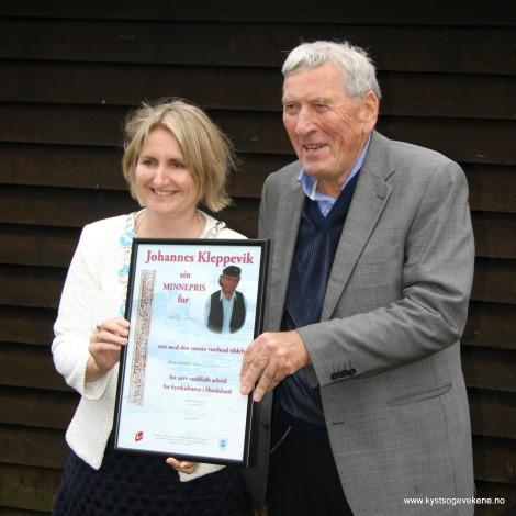 Ordførar Kari-Anne Landro overrekte prisen
