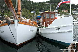 Mange flotte båtar å sjå