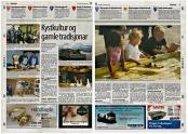 Lokalavisane Strilen og Avisa Nordhordland hadde fyldig dekning av Kystsogedagane i Meland, her er Nordhordland sitt oppslag