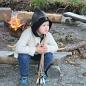Ung viking ved bådet