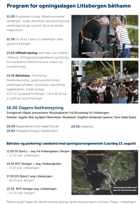 program for opningsdagen