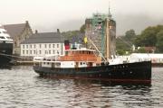 MS Atløy kom inn til kai like før avgang