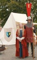 Dronning Ingeborg og ein vaktsoldat