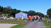 Hallen med flyet GUL 16, som i år er basen for Herdla museum. Like ved skal nye Herdla museum reise seg i løpet av vinteren
